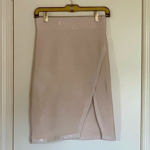 Wow Couture Sand Front Slit Pencil Skirt Size M